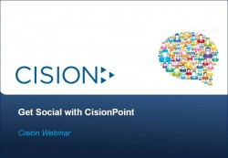 Get Social with CisionPoint webinar