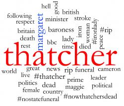 Margaret Thatcher conversation cloud 1pm