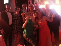 Channel 4 news team with their Online Media Awards