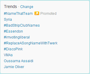 Twitter trends box