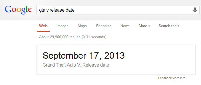 Google GTA V release date