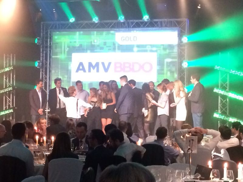 The winning agency, AMVBBDO