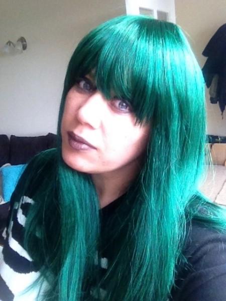 Kellie Hill Big Fashionista green hair