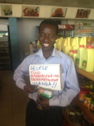 George Musuga from Uganda is a food processing entrepreneur who was helped by Grow Movement in building his business.