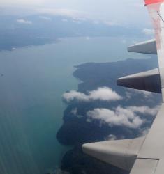 Plane over Malaysia