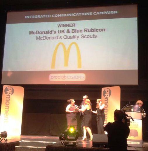 The winning team of McDonald's UK & Blue Rubicon