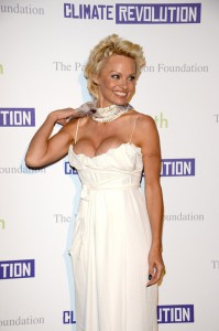 Pamela Anderson at the Pamela Anderson Foundation Launch