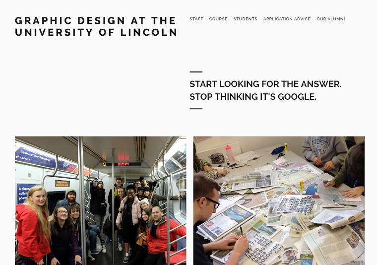 GRAPHIC DESIGN AT THE UNIVERSITY OF LINCOLN