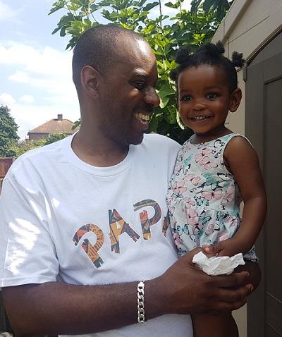 Elliott Rae and daughter