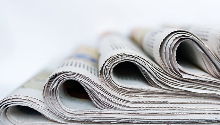 rolled up newspapers