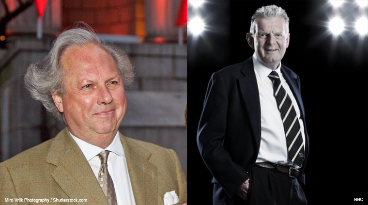Graydon Carter and John Motson