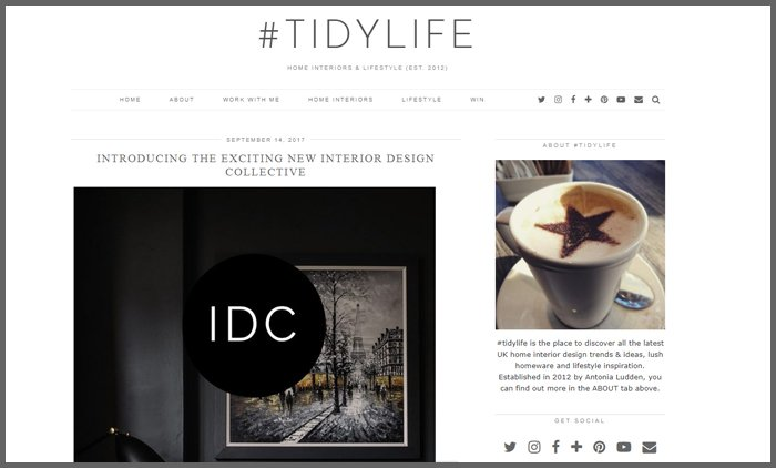 Interior Design Blog Ranking Tidylife