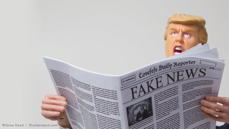 Trump figure fak news covefefe