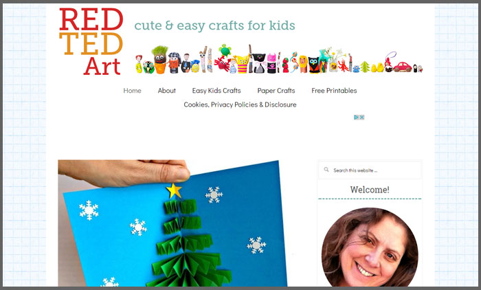 Red Ted Art - Vuelio Top 10 Craft Blogs