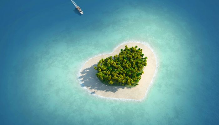Island love heart