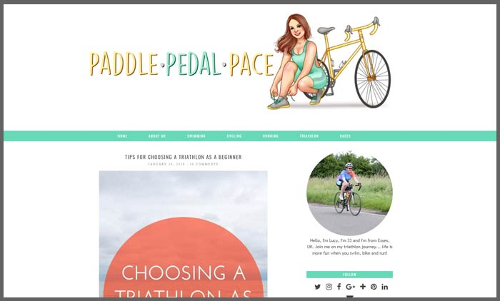 Vuelio fitness blog ranking paddlepedalpace