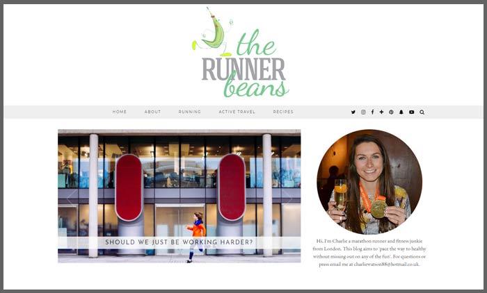 Vuelio fitness blog ranking therunnerbeans
