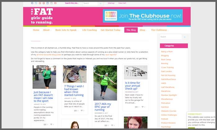Vuelio fitness blog ranking toofattorun