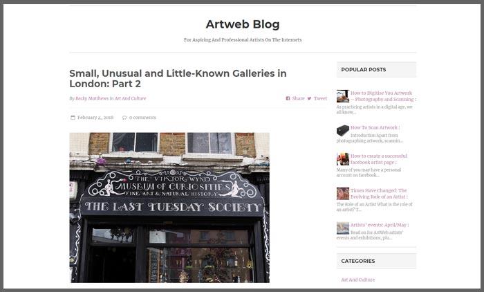 vuelio top 10 art blogs artweb