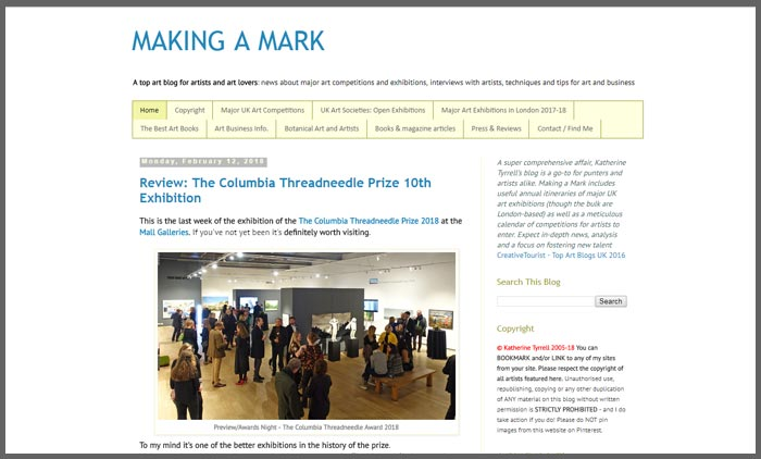 vuelio top 10 art blogs makingamark