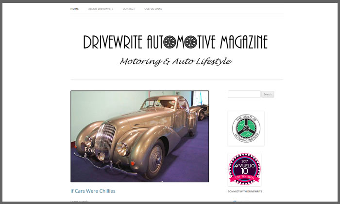 Vuelio top 10 car blogs drivewrite