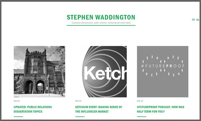 Vuelio top 10 pr blogs stephen waddington