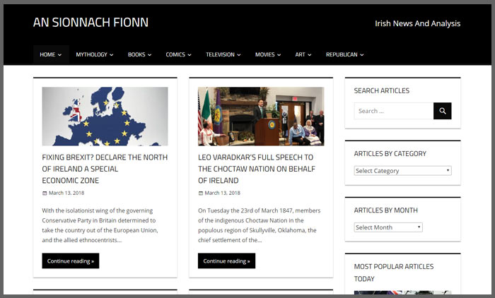 Vuelio irish blog ranking ansionnachfionn