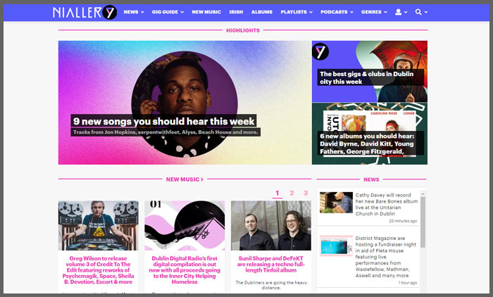 Vuelio irish blog ranking nialler9
