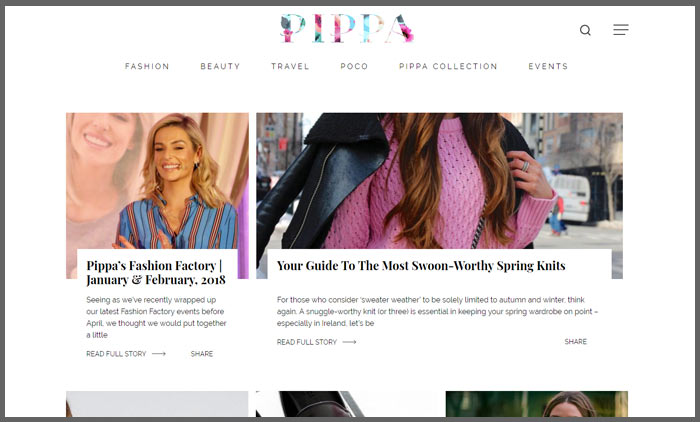 Vuelio irish blog ranking pippa