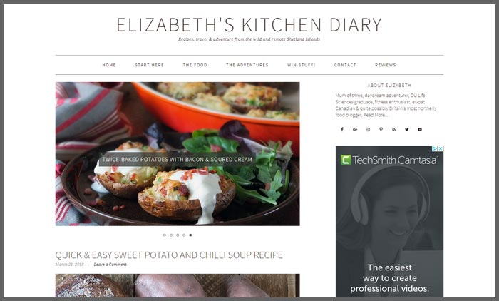 Food blogs uk top 10 vuelio vuelio top 10 food blog ranking elizabethskitchendiary forumfinder Gallery