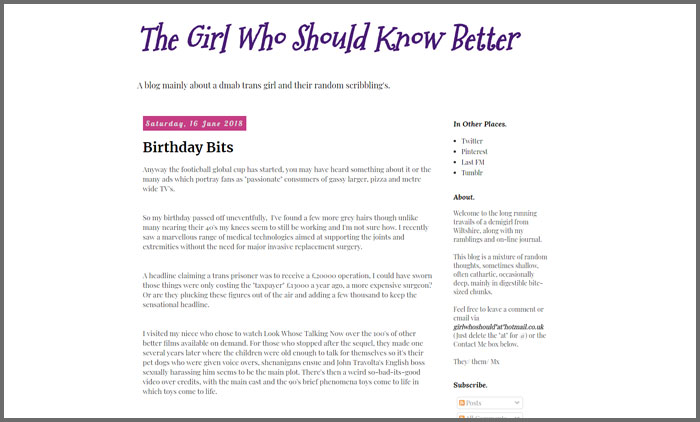 The Girl Who Should Know Better