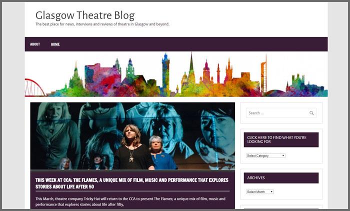 glasgow theatre blog