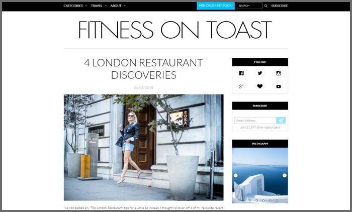 Fitness on Toast