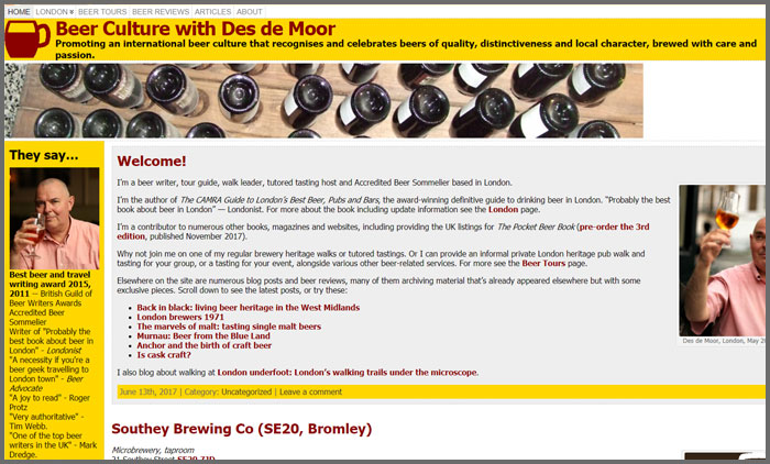Beer Culture with Des de Moor
