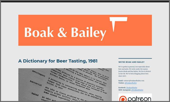 Boak & Bailey's Beer Blog