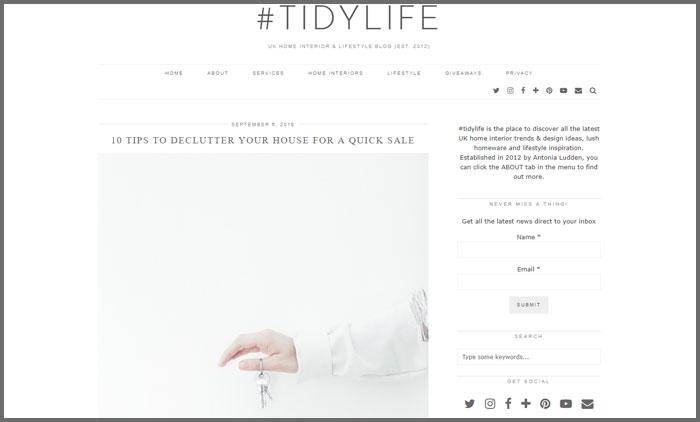 #tidylife
