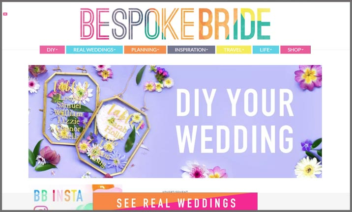 Vuelio Blog Awards 2018 - Wedding - Bespoke Bride