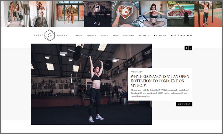 Vuelio Blog Awards 2018 - Health & Fitness - Carly Rowena