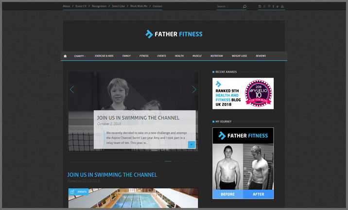 Vuelio Blog Awards 2018 - Health & Fitness - Father Fitness