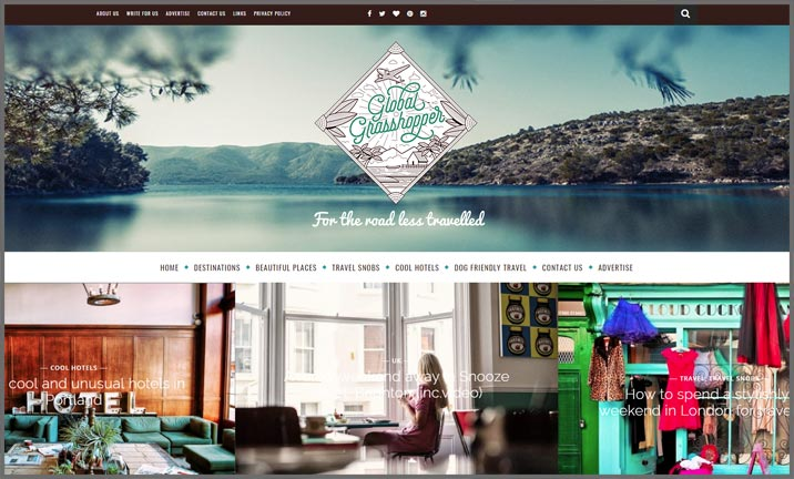Vuelio Blog Awards 2018 - Travel & Leisure - Global Grasshopper