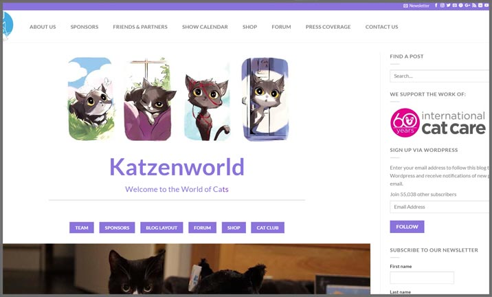 Vuelio Blog Awards 2018 - Pet - Katzenworld