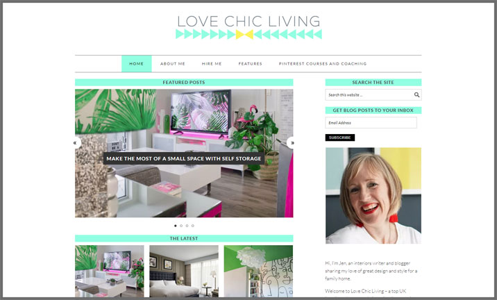 Vuelio Blog Awards 2018 - Interior Design - Love Chic Living