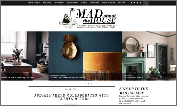 Vuelio Blog Awards 2018 - Interior Design - Mad About The House