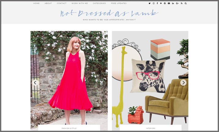 Vuelio Blog Awards 2018 - Women's Fashion - Not Dressed As Lamb