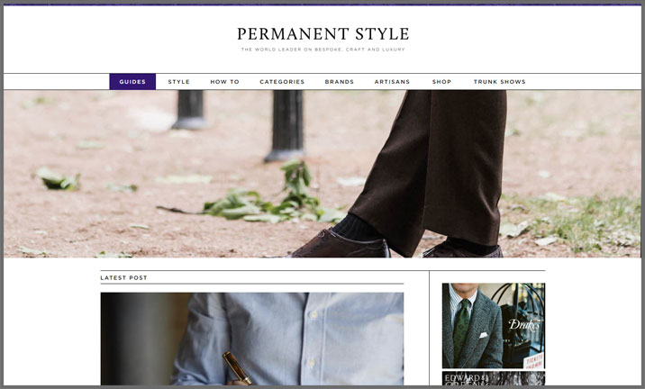 Vuelio Blog Awards 2018 - Men's Fashion - Permanent Style
