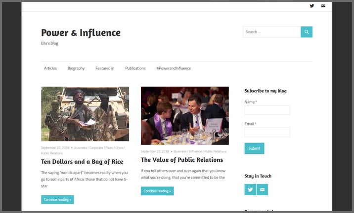 Vuelio Blog Awards 2018 - PR & Comms - Power & Influence