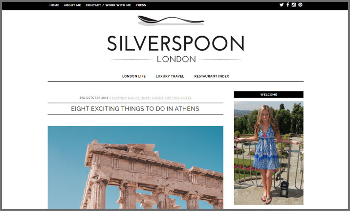 Vuelio Blog Awards 2018 - London Lifestyle - Silverspoon London