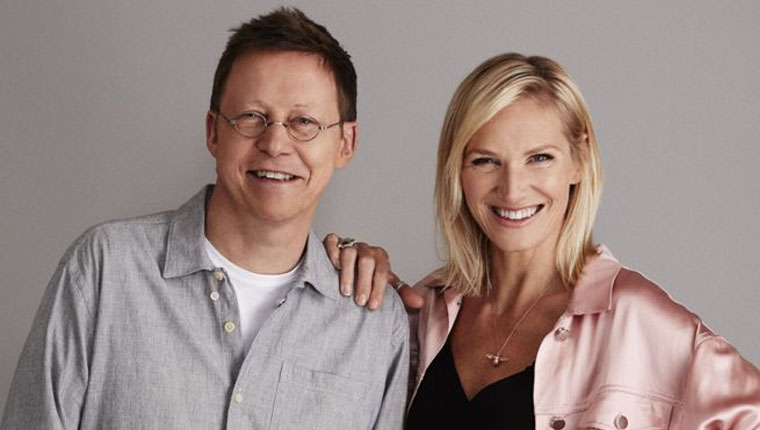 Simon Mayo and Jo Whiley