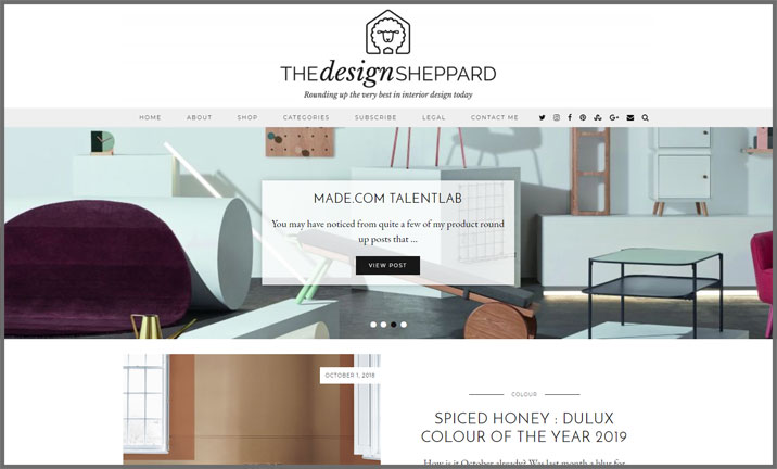 Vuelio Blog Awards 2018 - Interior Design - The Design Sheppard