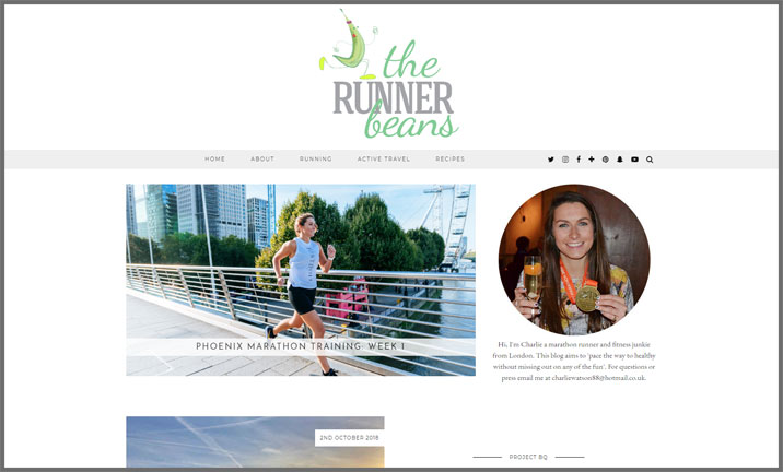 Vuelio Blog Awards 2018 - Health & Fitness - The Runner Beans